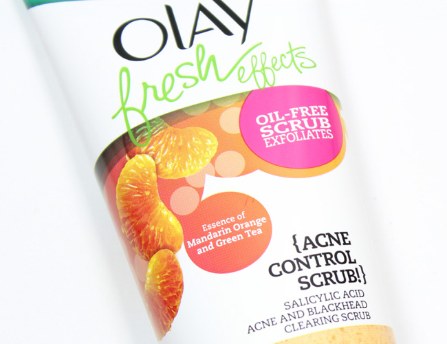 Olay Fresh Effects {Acne Control Face Scrub!}