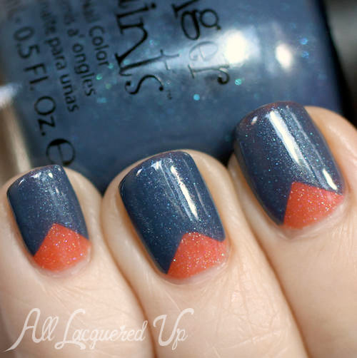 FingerPaints A Pair Affair by All Lacquered Up Chevron Nail Design