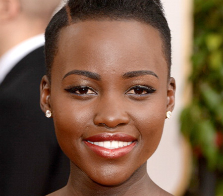 Get the Look: Lupita Nyong'o at the 2014 Golden Globes.