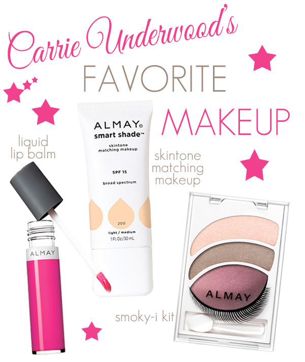 Almay Brand Ambassador Carrie Underwood's Favorite Makeup
