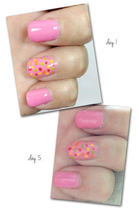 COVERGIRL nail look with Pink Lady Glosstinis