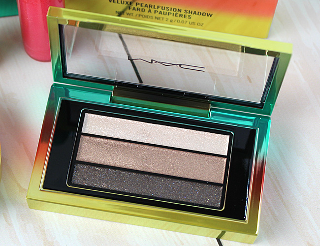 MAC Wash & Dry Summer Makeup Collection: Veluxe Pearlfusion Shadow Trio in Permanent Press