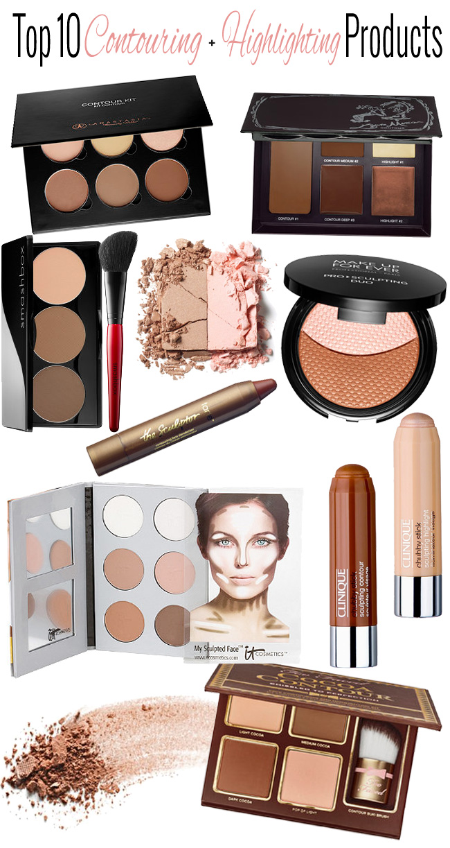 Top 10 Contouring + Highlighting Makeup Palettes and Products