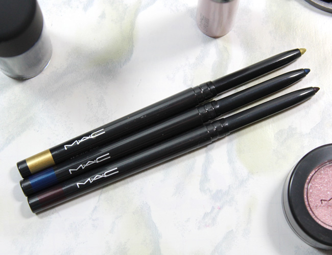 MAC A Novel Romance Collection: MAC Fluidline Eye Pencil Atomic Ore, Deep Blue Sea, Earth Sign