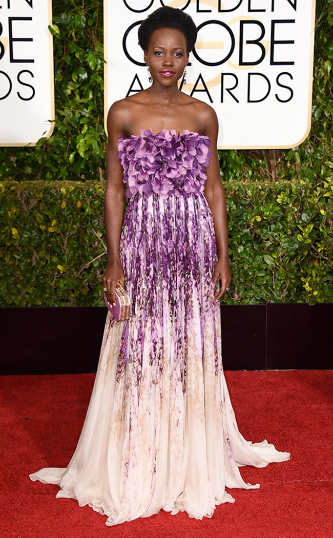 Get the Look: Lupita Nyong'o at the 2015 Golden Globe Awards