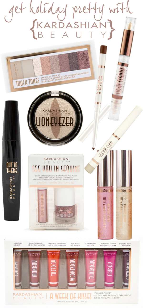 Get Holiday Pretty with Kardashian Beauty