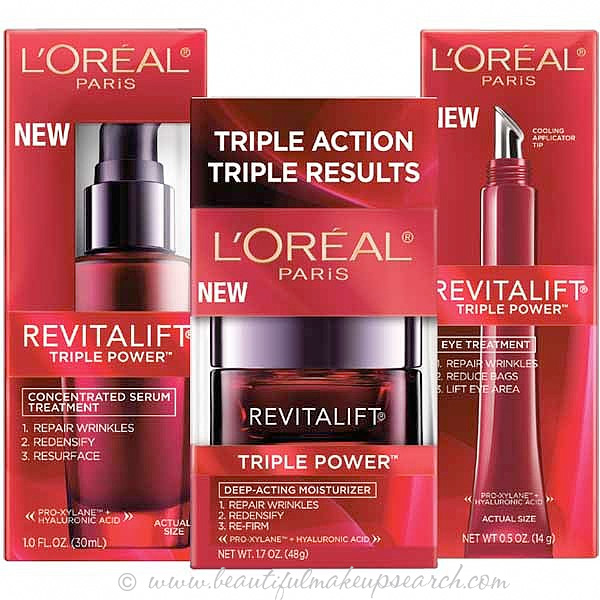 L'Oréal Paris Revitalift Triple Power Collection