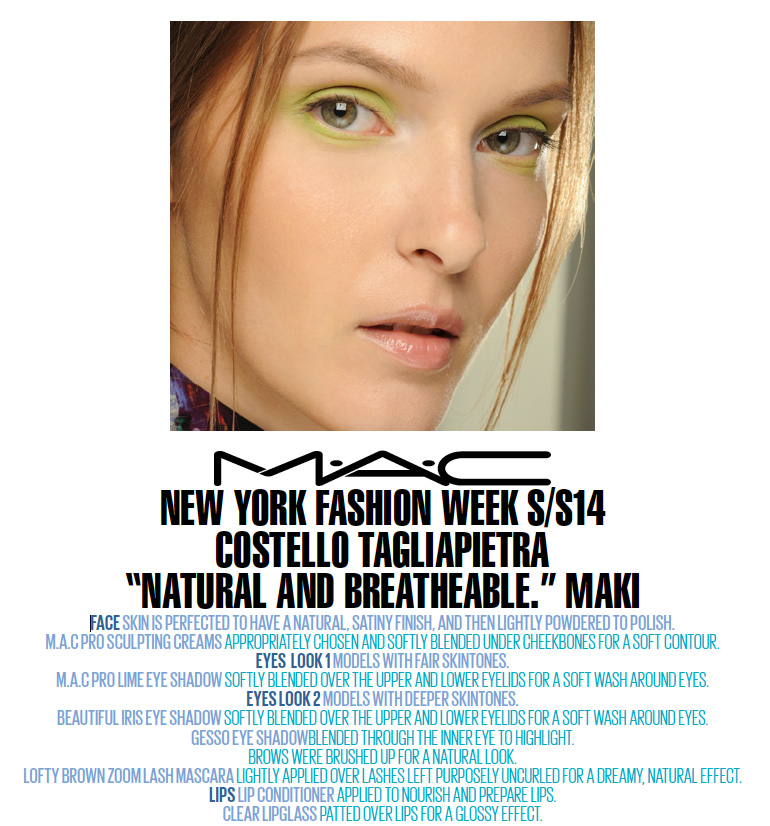 Backstage with MAC: New York Fashion Week S/S14 Costello Tagliapietra.