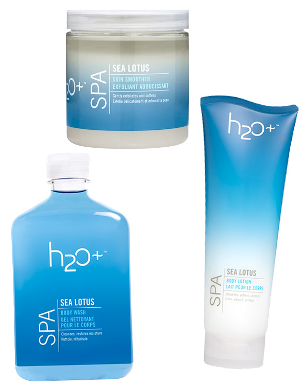 H2O+ Sea Lotus Skin Smoother, Body Wash & Body Lotion