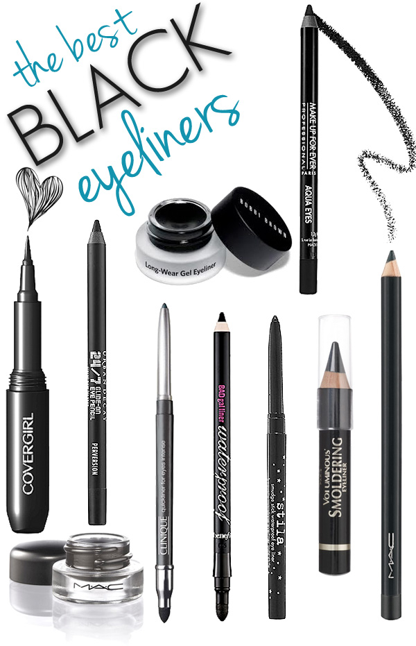 The BEST Black Eyeliners