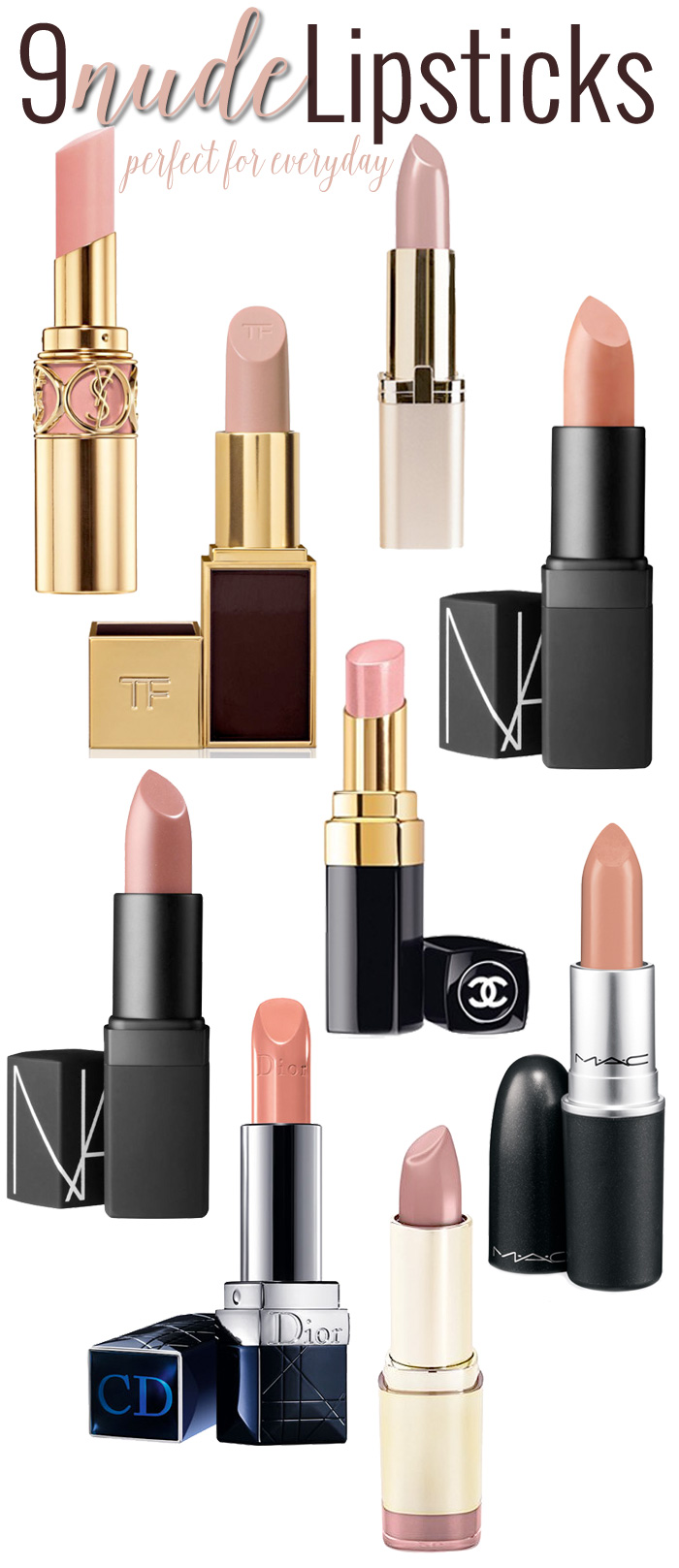 9 Perfect Nude Lipsticks