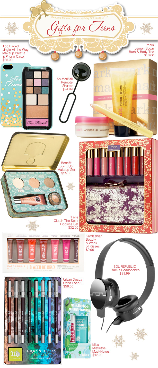 bc127984224d Holiday Gift Guide 2013  Gifts for Teens. — Beautiful Makeup Search