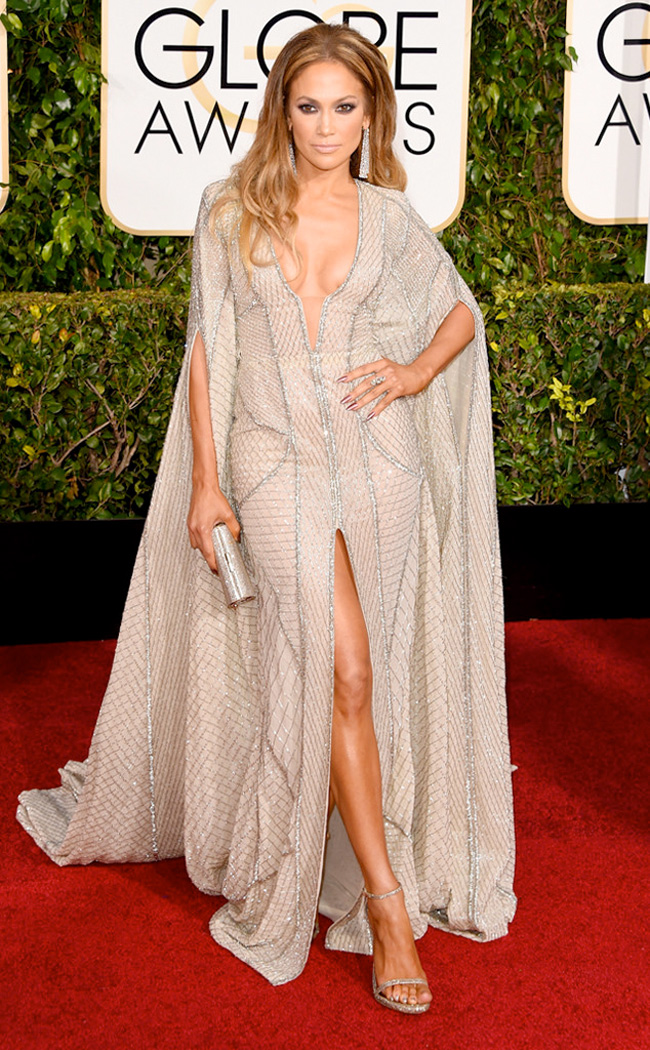 Get the Look: Jennifer Lopez at the 2015 Golden Globes