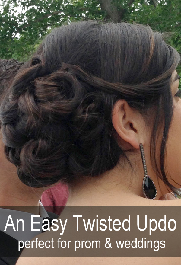 A Twisted Updo For Prom Homecoming Winter Formal And Weddings