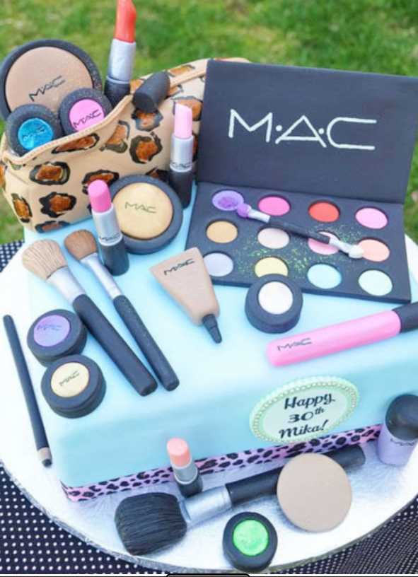Swell The Ultimate Mac Cosmetics Birthday Cake Beautiful Makeup Search Personalised Birthday Cards Sponlily Jamesorg
