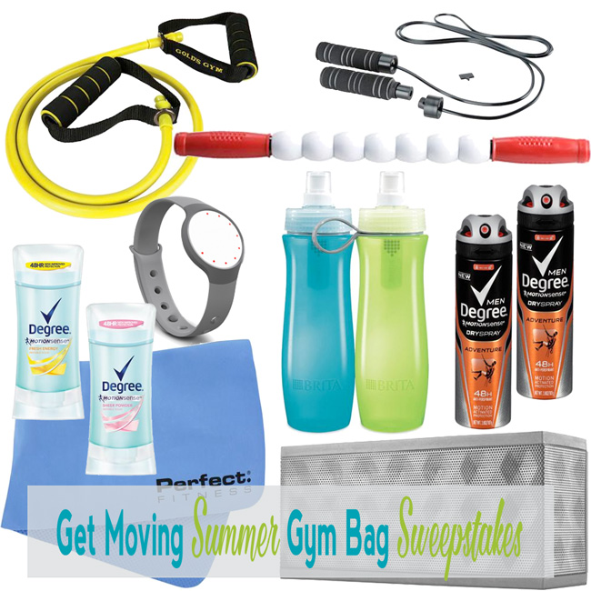 Win It! Enter to win a Get Moving Summer Gym Bag Sweepstakes!