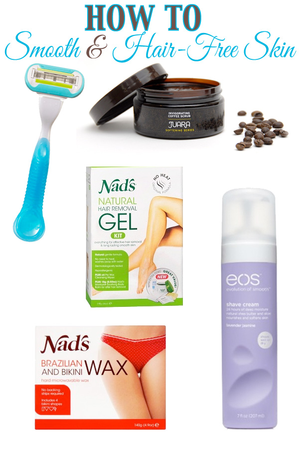 Top 5 Ways to Have Hair Free Smooth Skin via beautifulmakeupsearch.com