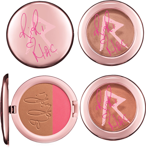 RiRi Hearts MAC Fall Collection : Diamonds Cream Colour Base, Bas Girl Gone Good Powder Blush, Hibiscus Kiss Powder Blush Duo
