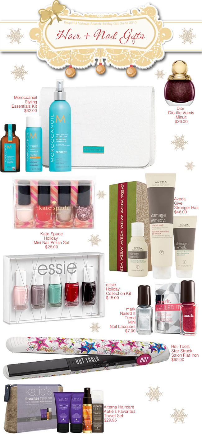 Beautiful Makeup Search Holiday Gift Guide - Hair + Nail Gifts