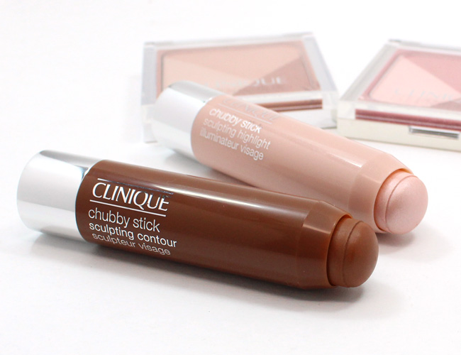 Clinique Hello Cheekbones Contouring Collection: Chubby Stick Curvy Contour and Chubby Stick Hefty Highlight