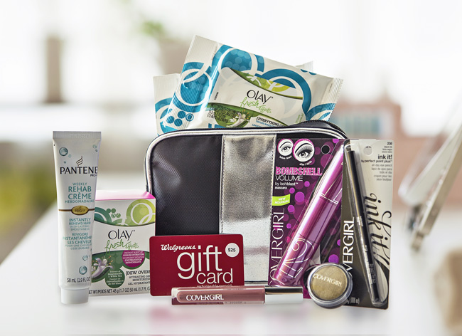 Win It! Covergirl, Olay and Pantene products + $25 Walgreens Gift Card.