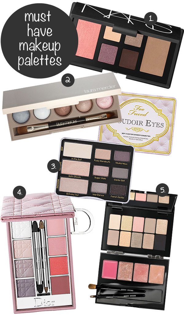5 Must Have Makeup Palettes