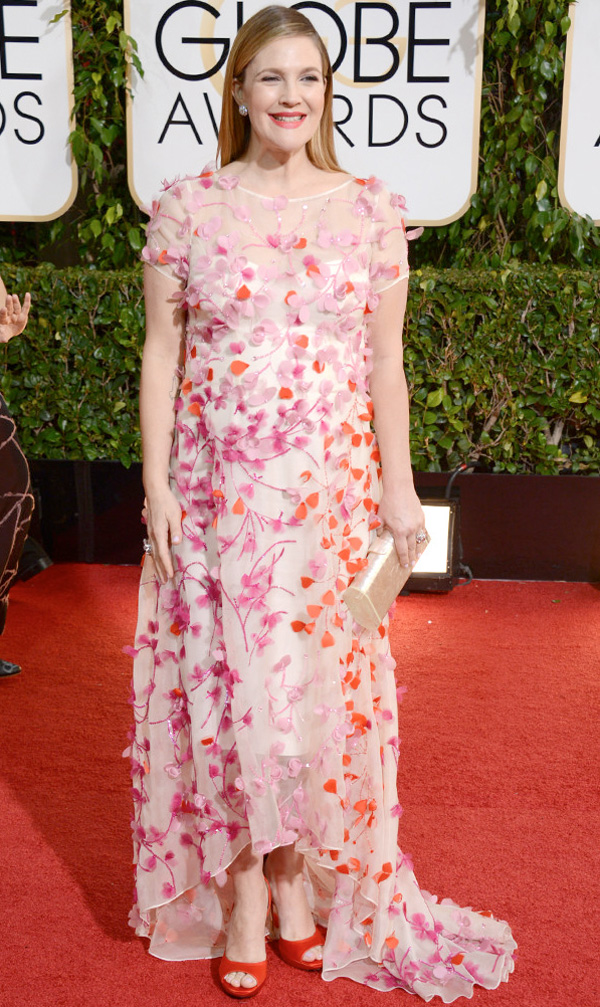 Get the Look: Drew Barrymore at the 2014 Golden Globes.