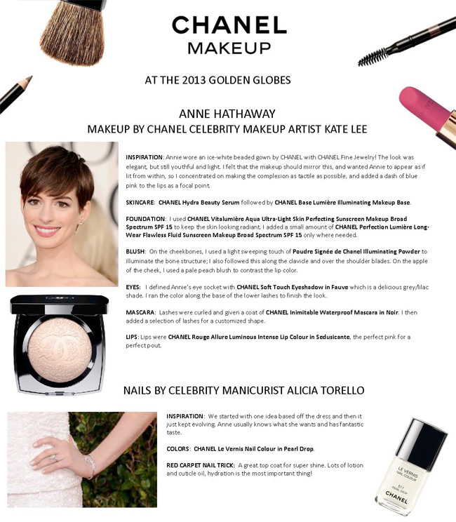 Golden Globes Beauty Anne Hathaway Beautiful Makeup Search