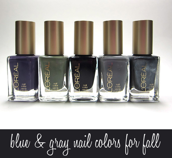 Blue & Gray Nail Colors for Fall