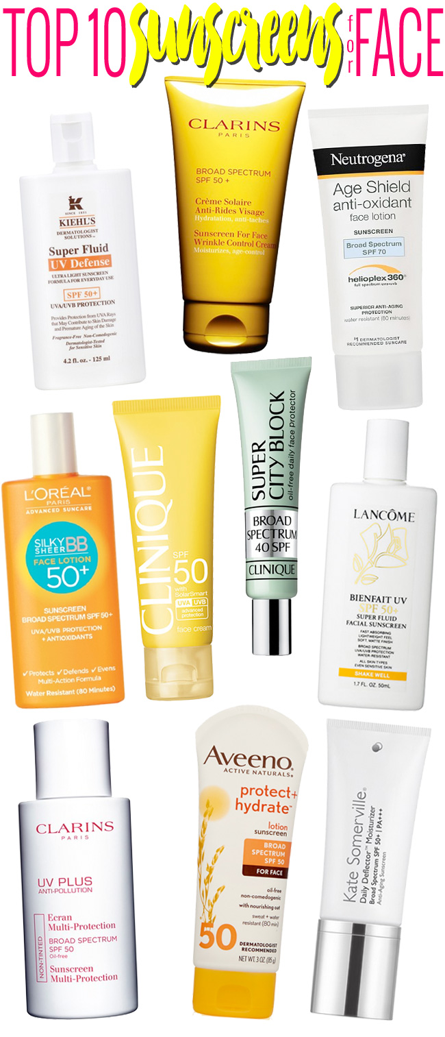 Top 10 Sunscreens for Your Face