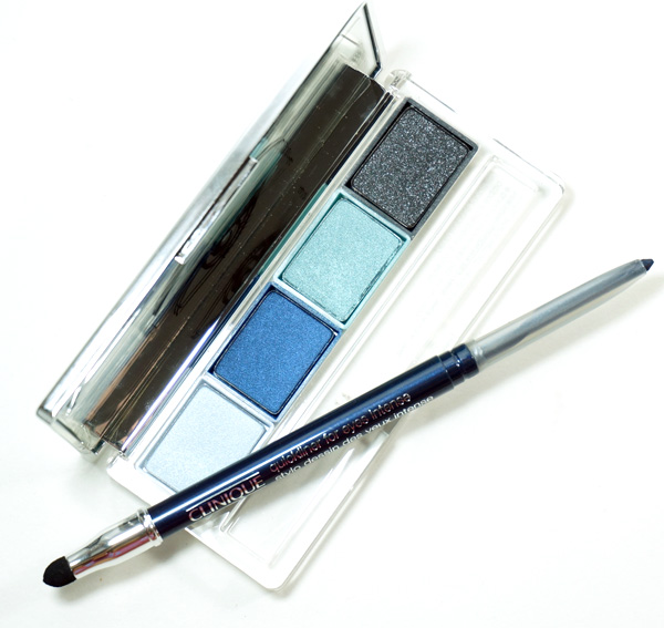 Summer blue eye makeup from Clinique.