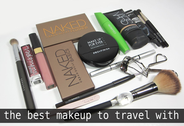 The best makeup to take with you when you travel.