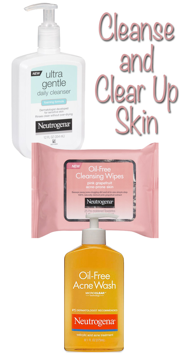 Cleanse and Clear Up Skin with Neutrogena