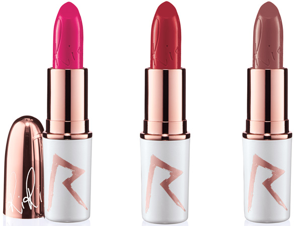 RiRi Hearts MAC Holiday: Lipstick Pleasure Bomb, RiRi Woo, Bad Girl RiRi