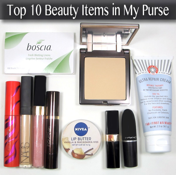 Top 10 Beauty Items in My Purse