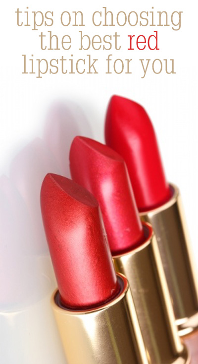 Tips on choosing the best red lipstick.