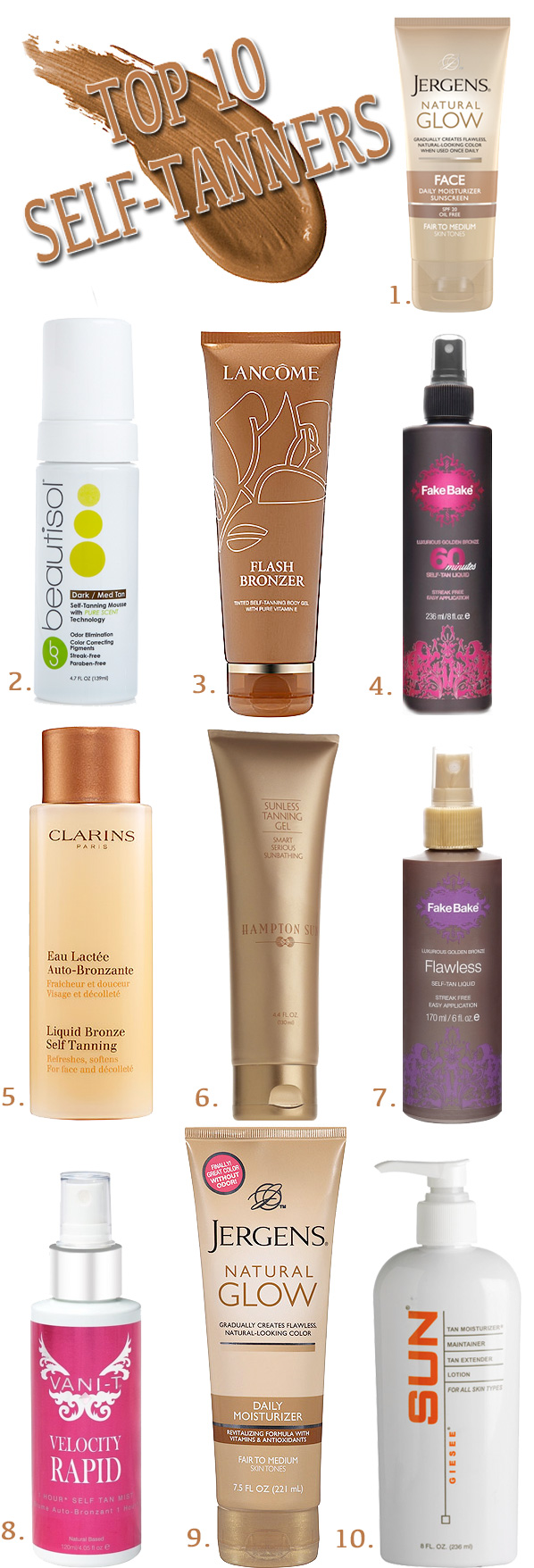 The 10 Best Self Tanners | Beautiful Makeup Search
