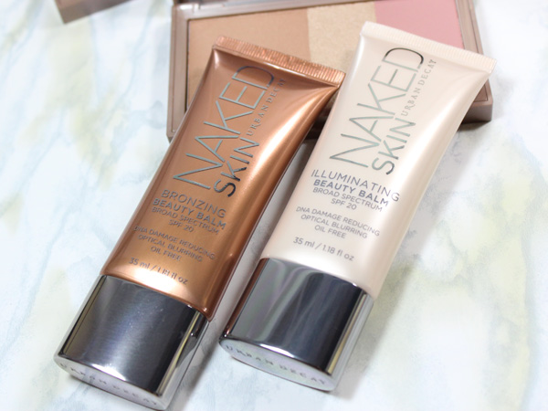 Urban Decay Naked Skin Bronzing Balm and Illuminating Beauty Balm Review via beautifulmakeupsearch.com