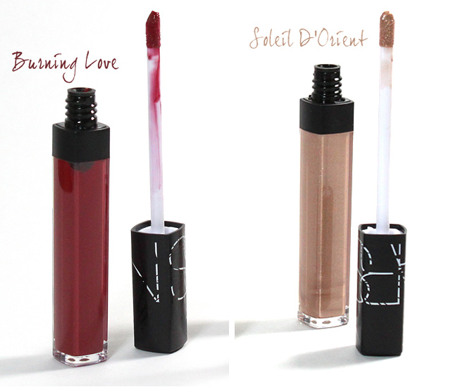 NARS Laced with Edge Holiday Color Collection: Burning Love + Soleil D'Orient Lipgloss
