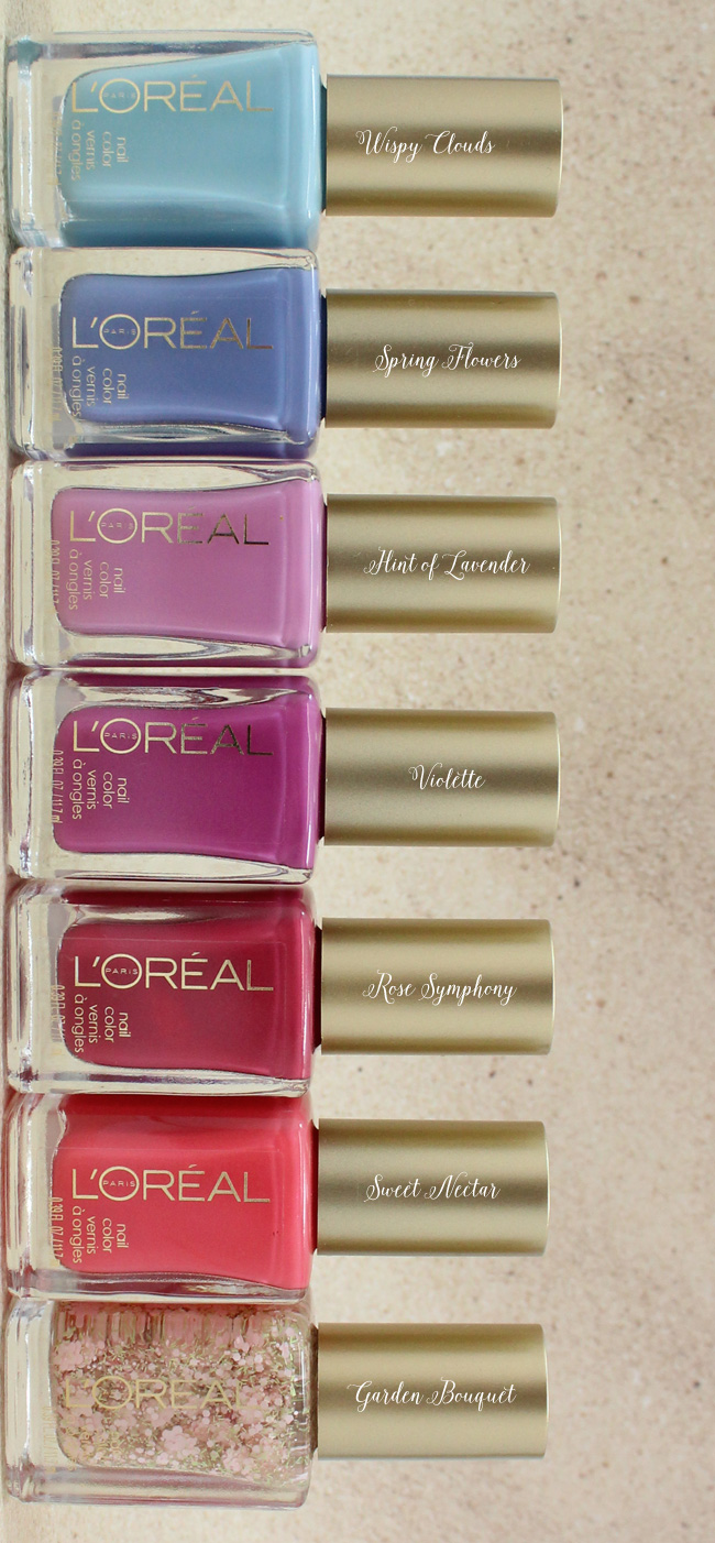L'Oreal Paris Colour Riche Nail Vintage Florals Collection