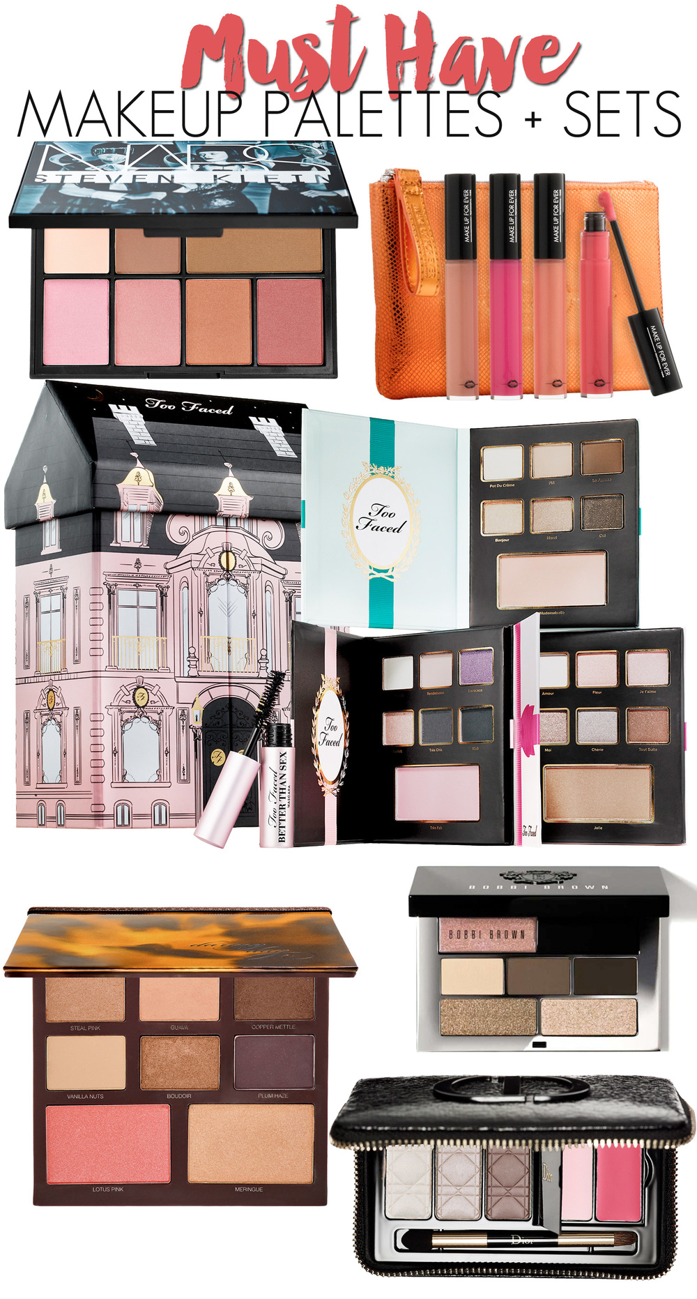 Must Have Makeup Palettes + Sets for Fall + Winter