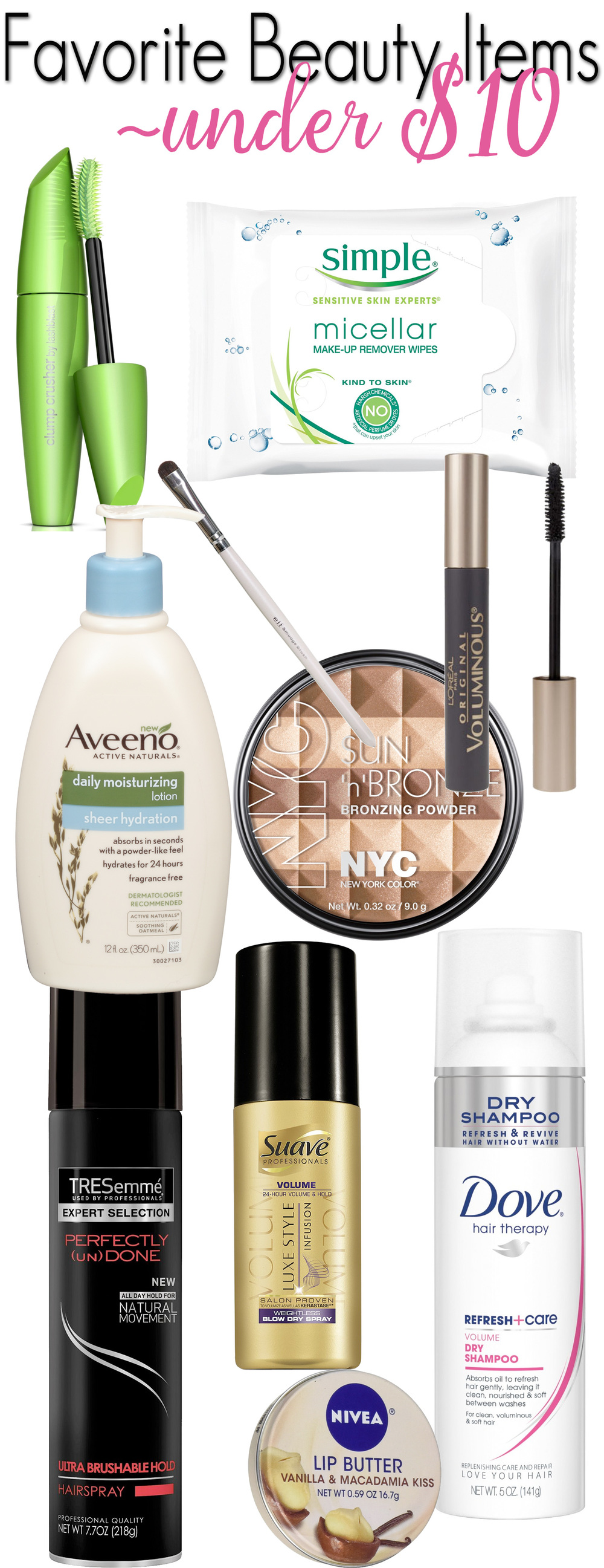 Top Beauty Products Under $10.00