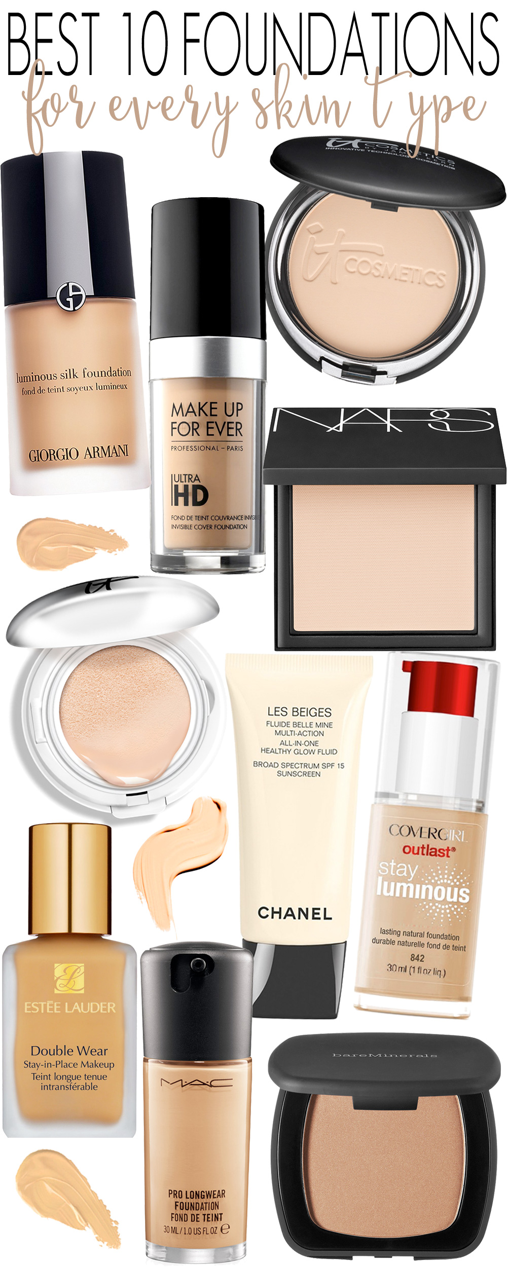 Best 10 Foundations for Every Skin Type. — Beautiful ...