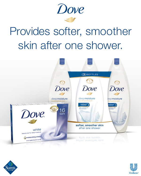 Dove Deep Moisture for Softer, Smoother Skin