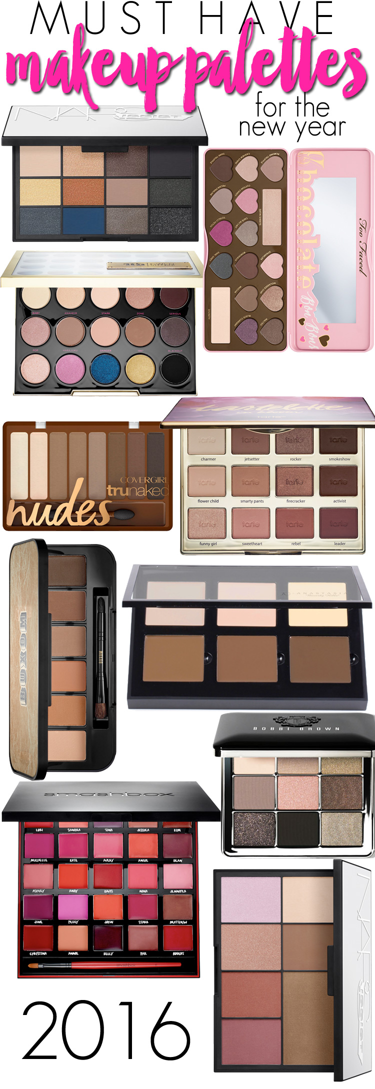 Top 10 Must Have Makeup Palettes for 2016