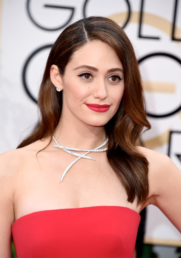 Emmy Rossum at the 2016 Golden Globes
