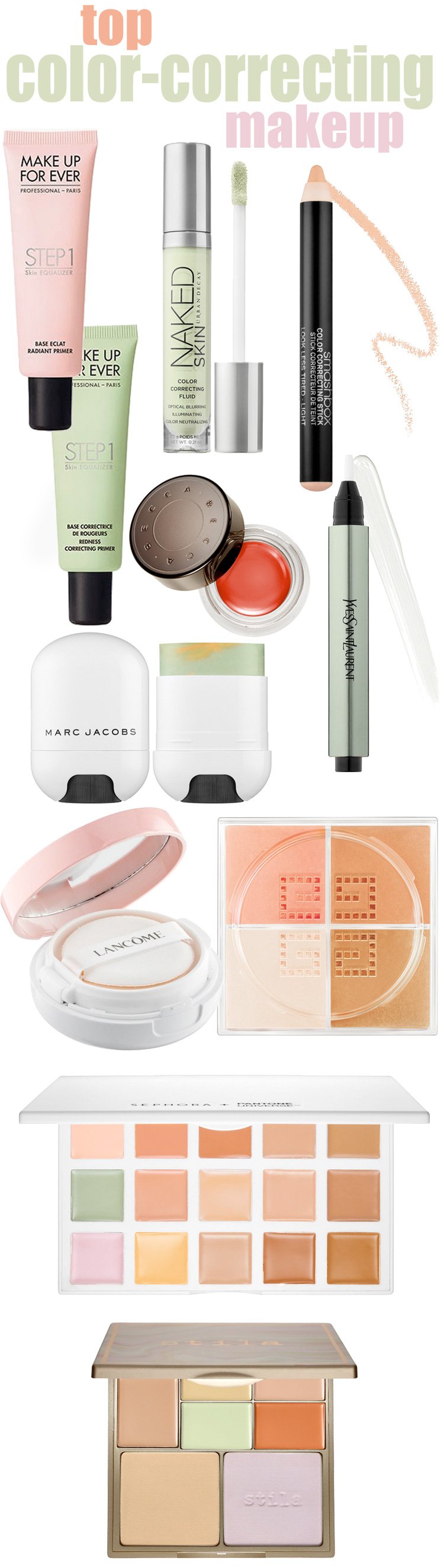 Top color-correcting makeup products to neutralize complexion concerns. If you need to hide dark circles, cancel out redness or warm up dullness in your skin, you need a color-corrector!