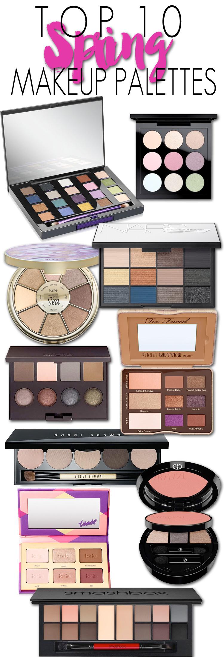 Top 10 Spring Makeup Palettes