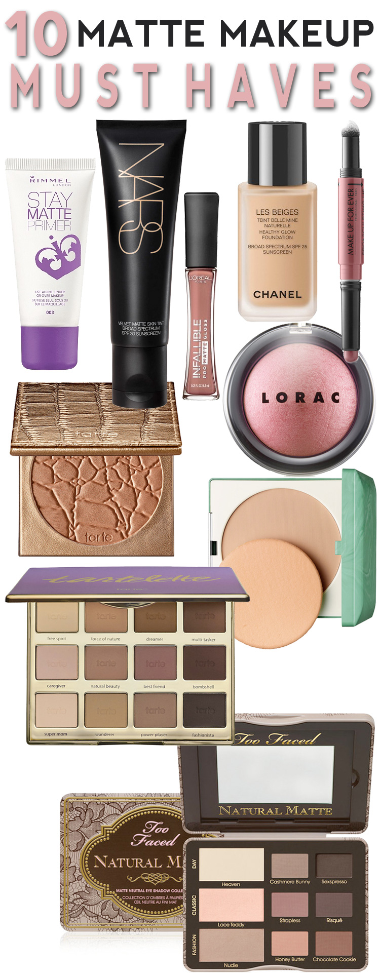 10 Matte Makeup Must-Haves to Keep Your Face Looking Fresh, Fab and Beautiful All Summer Long!