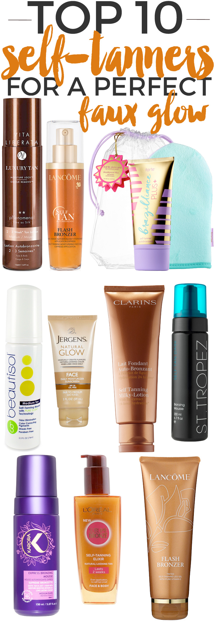 Top 10 Self-Tanners for a Perfect Faux Glow